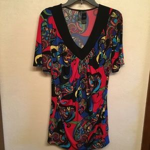 BISOU BISOU DRESS MULIT COLORS SIZE LARGE